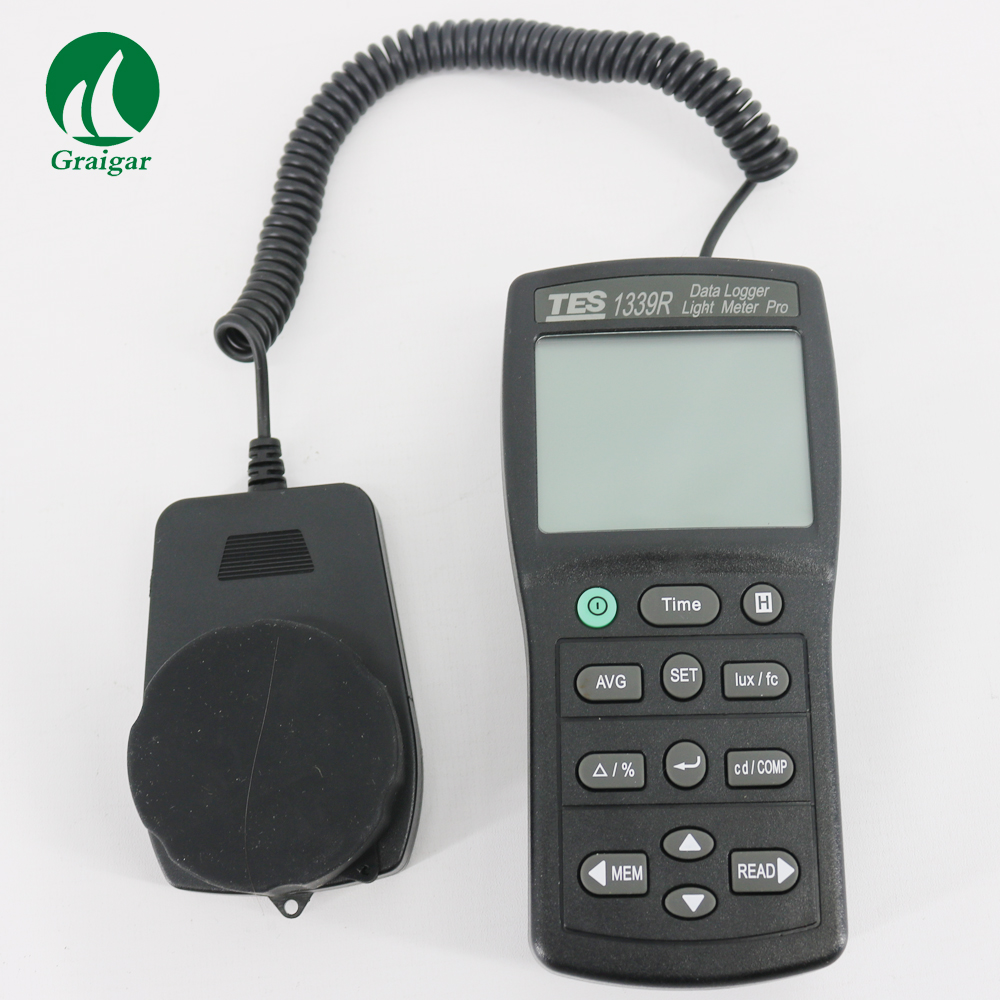 hot sale TES 1339R Data Logger Light Meter Tester 0.01 to 999900 Lux PC Data Record