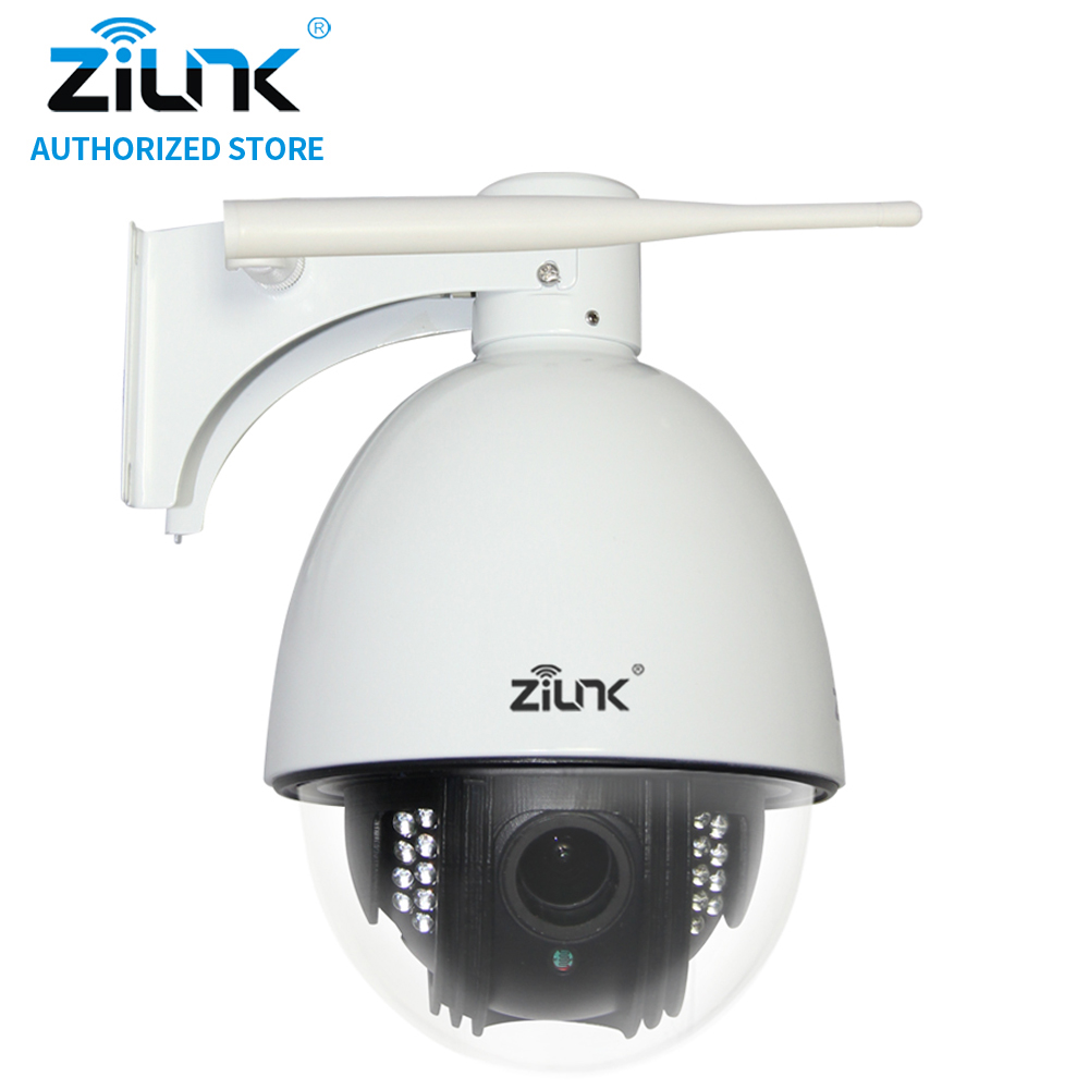 ZILNK Mini 960P PTZ Speed Dome Wireless IP Camera 5xZoom Waterproof WiFi CCTV Support TF Card Motion Detection ONVIF H.264 White zilnk mini ptz speed dome ip camera 960p 5x optical zoom waterproof cctv wifi support tf card motion detection onvif h 264 black