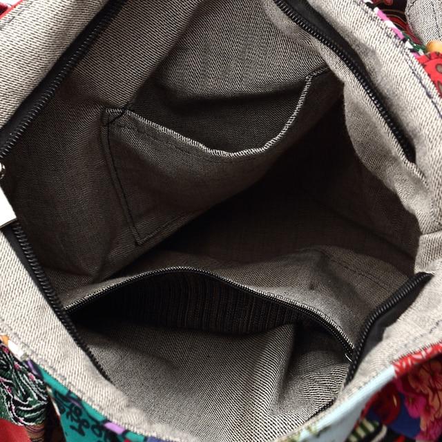 Women Shoulder Bag Cotton Fabric Handbags Adjustable Patchwork Hippie Bag Large Capacity Hobo Gypsy Bag 5