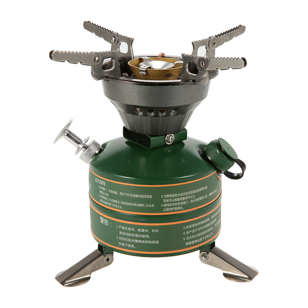 BRS Camping Stove Camping Hiking Portable Non preheating Gasoline burning Fuel Stove Gasoline Picnic Furnace Boiler