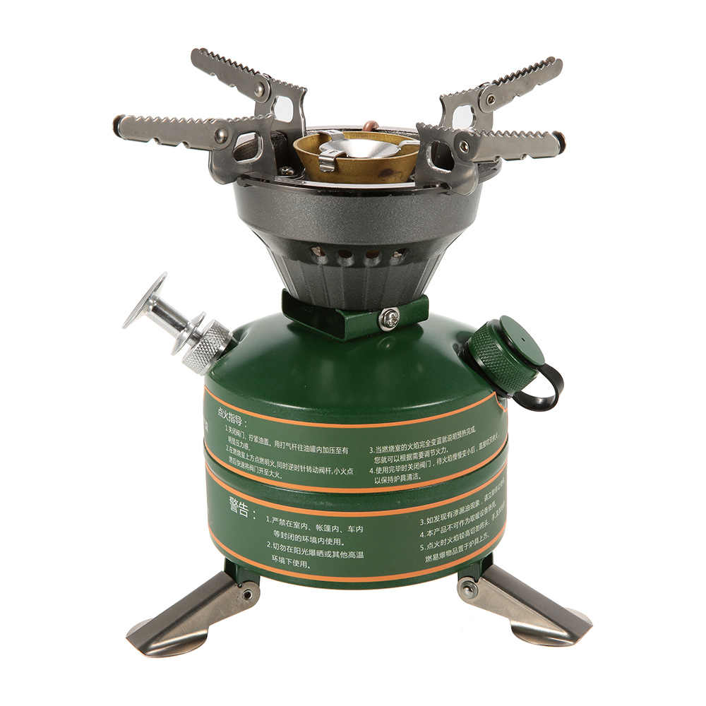 BRS Camping Stove Camping Hiking Portable Non-preheating Gasoline-burning Fuel Stove Gasoline Picnic Furnace Boiler Cooker
