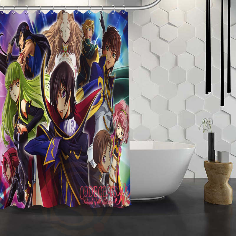 Hot Sale Custom Lelouch Angel Shower Curtain Waterproof Fabric ...