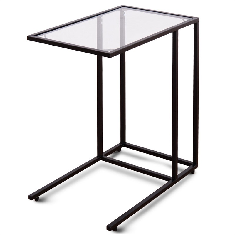 Square Steel Frame Sofa End Table