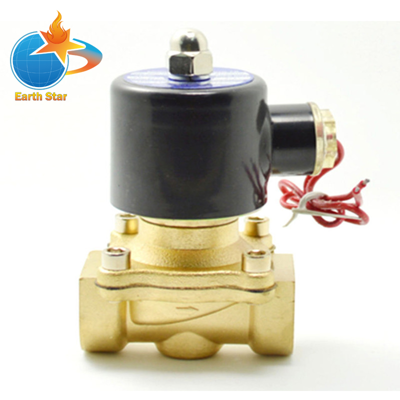 2017 New 3/4 AC 220V Electric Solenoid Valve Pneumatic Valve for Water Oil Air Gas x1 1Pneumatics Alloy Body pneumatic gas water oil valve solenoid coil ac 220v connector plug 3 din43650a inner hole diameter 16mm high 43mm