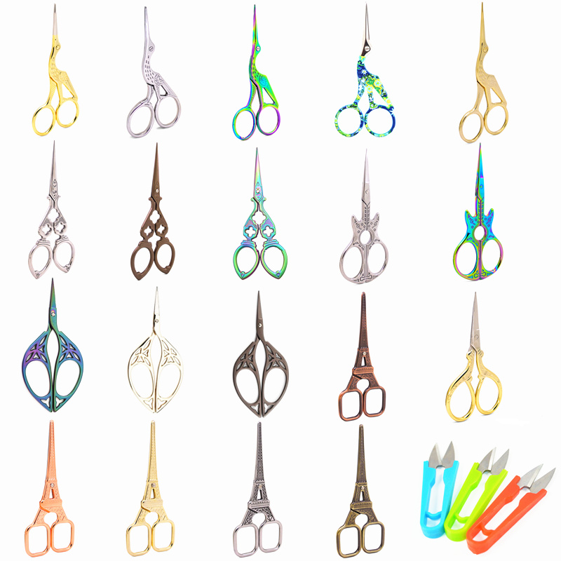 Vintage Hot Scissors 37 Styles Retro Zigzag Sewing Embroidery for and Needlework Tailors Accessories,Q