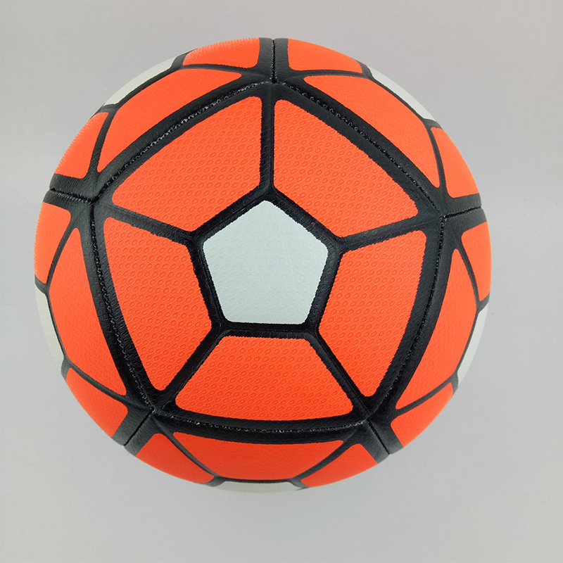 Size 5 Soft PU Leather Football Ball Anti-slip Machine Sewn Soccer Ball Younger Teenager Game Match Training Studying Equipment