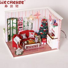 IIE CREATE DIY Doll House Furniture Dollhouse Kits House Miniature Wood Room Model Assembling Toys for Kids Christmas Gift
