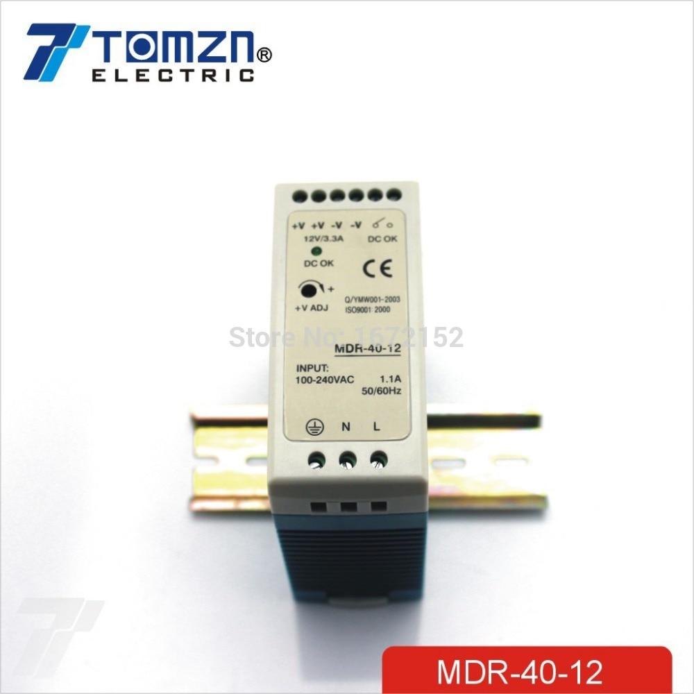 40W 12V MINI Din Rail Single Output Switching power supply mdr 40 12 single output micro volume 12v ac dc 40w din rail 42w switching model power supply 12v