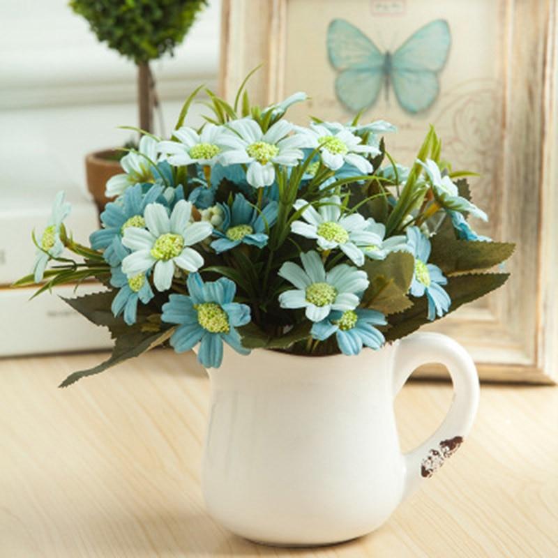 Fashion Romantic Artificial Daisy Flower Silk Vividly ...