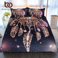 BeddingOutlet Eye Dreamcatcher Bedding Set King Size Luxury Galaxy Golden Print Bohemian Bedclothes 3d Universe Duvet