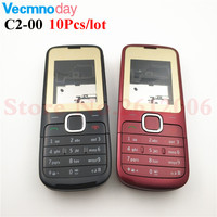 Vecmnoday 10Pcs/lot Housing Case For Nokia C2 C2 00 Full Complete Mobile Phone Housing Battery Cover Door Frame With Keyboard