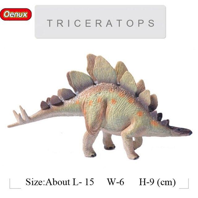 Oenux Prehistoric Savage Dinossauro Animals Brinquedo Jurassic Stegosaurus Tyrannosaurus Rex Figures Dinosaurs Model Toy For Kid