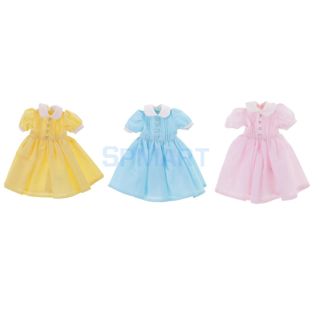 12.5cm Lovely Doll Dress Clothes Clothing Outfit for Neo Blythe Pullip Azone Licca Barbie Momoko Dolls Dress up Accessory Gift high quality japanese amine fs good smile goodsmile bakemonogatari oshino shinobu 19cm pvc action figure model toys gift