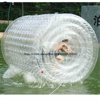 Clear 1.0mm PVC inflatable roller ball 2.4mL factory price inflatable water roller ball walk on water roller wheel for sale