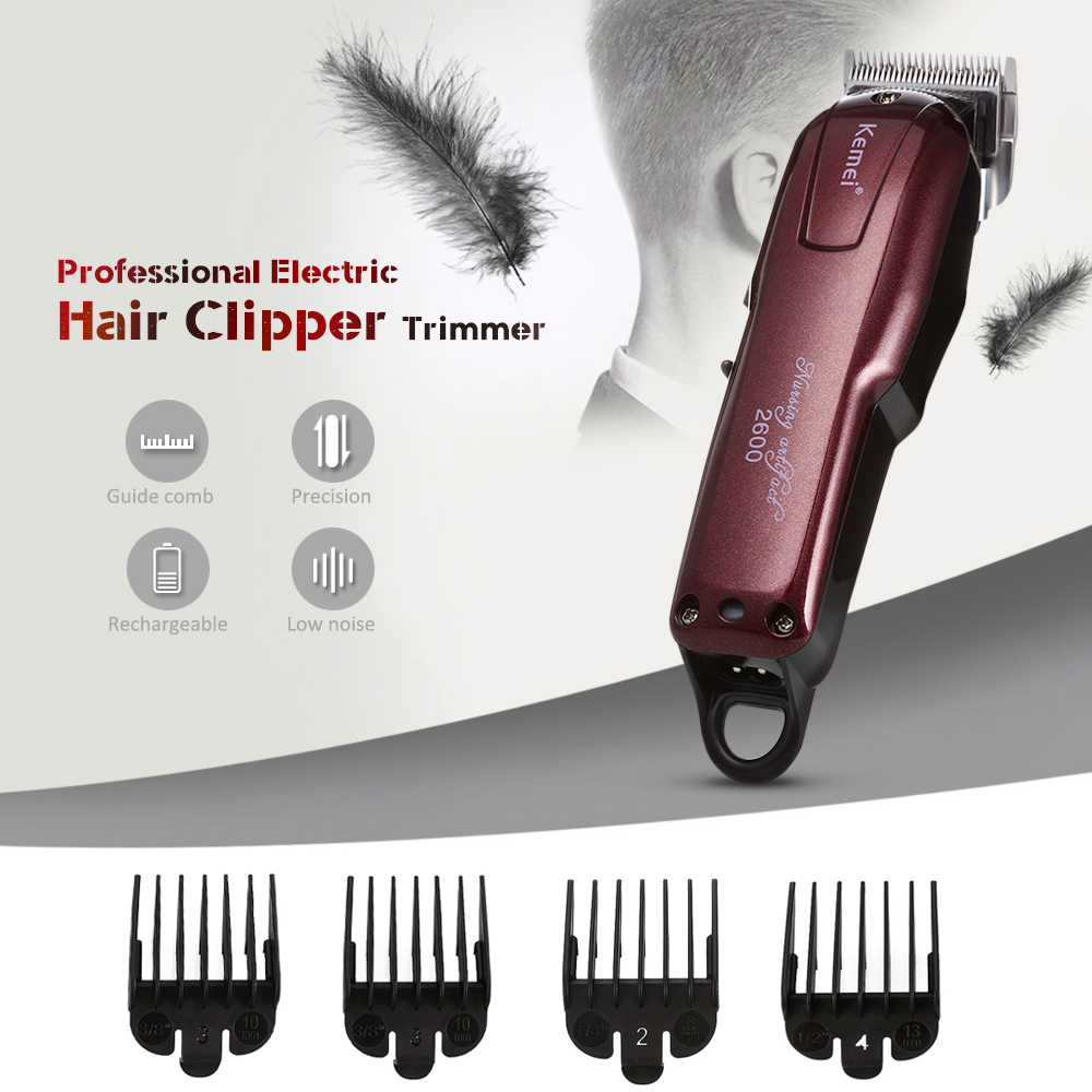 100-240V Kemei Professional Hair Clipper Electric Hair Trimmer Powerful Hair Shaving Machine Hair Cutting Beard Electric Razor 100 240v kemei hair clipper beard electric razor electric professional hair trimmer powerful hair shaving machine barber