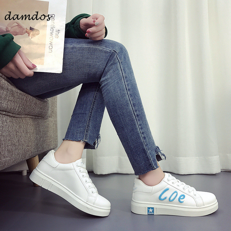 Women Sneakers Sports Shoes Girls Skateboard Skateboarding Shoes Student White Shoes Outdoor Indoor for Women Sports Foot Wear Skateboarding    - title=