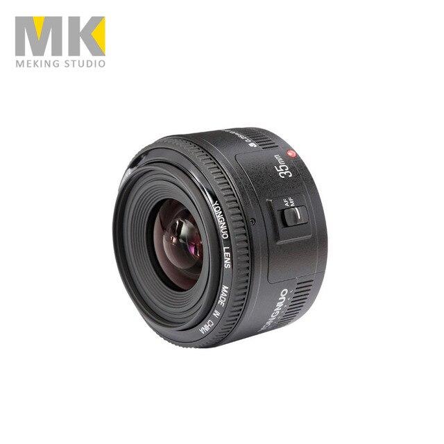 Original Standard Prime YONGNUO 35mm F2 Large Aperture Auto Focus Lens for Canon 5DII 5DIII 5D 500D 400D 650D 600D 450D 60D 7D