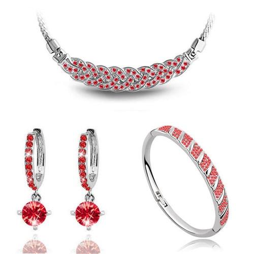 AAAA + steentjes twist ketting oorbel armband mode-sieraden sets - Mode-sieraden - Foto 5