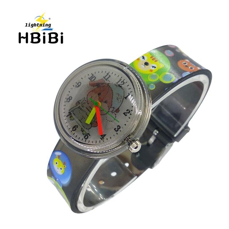Cartoon Happy Dog Two Patterns Children's Bracelet Watch Kids Fashion Casual Sport Quartz Wrist Watches Boys Girls Student Clock