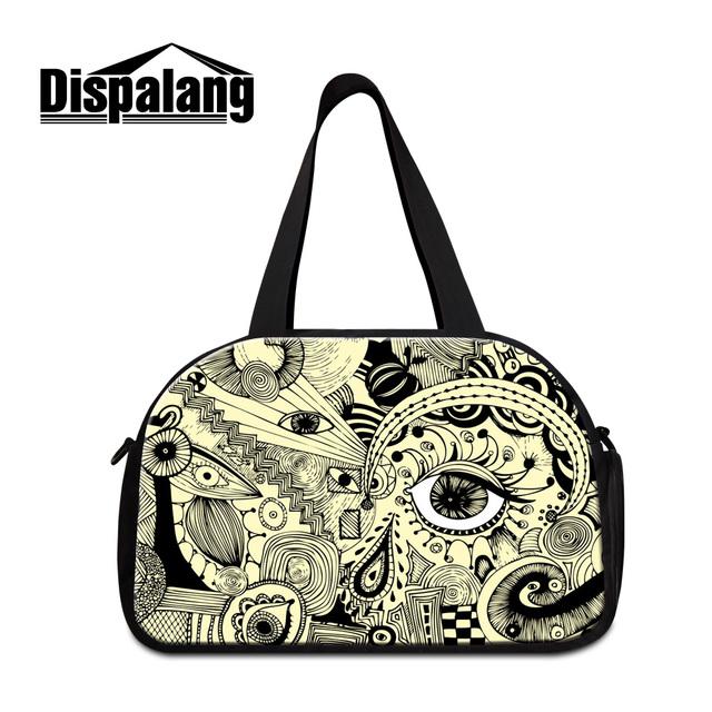Dispalang 3d artístico eye impresiones de lona bolsas para mujeres de alto calidad diseñador de la marca bolsa de viaje para mujer de los hombres de equipaje de la lona totes