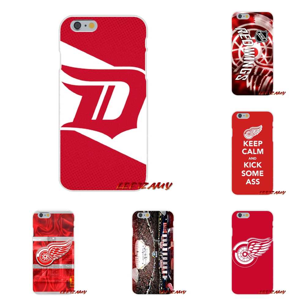 Accessories Phone Cases Covers For Huawei P Smart Mate Y6 Pro P8 P9 P10 Nova P20 Lite Pro Mini 2017 NHL Hockey Detroit Red Wings