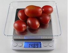 Beste verkauf 3000g x 0,1g Digital LCD Elektronische Küche Obst Lebensmitteldiät-post balance Waage Küche Gadget digitalwaage