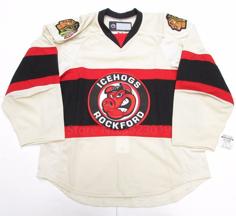 ROCKFORD ICEHOGS HOCKEY JERSEY Embroidery Stitched Customize any number and  name b86f7e4fb