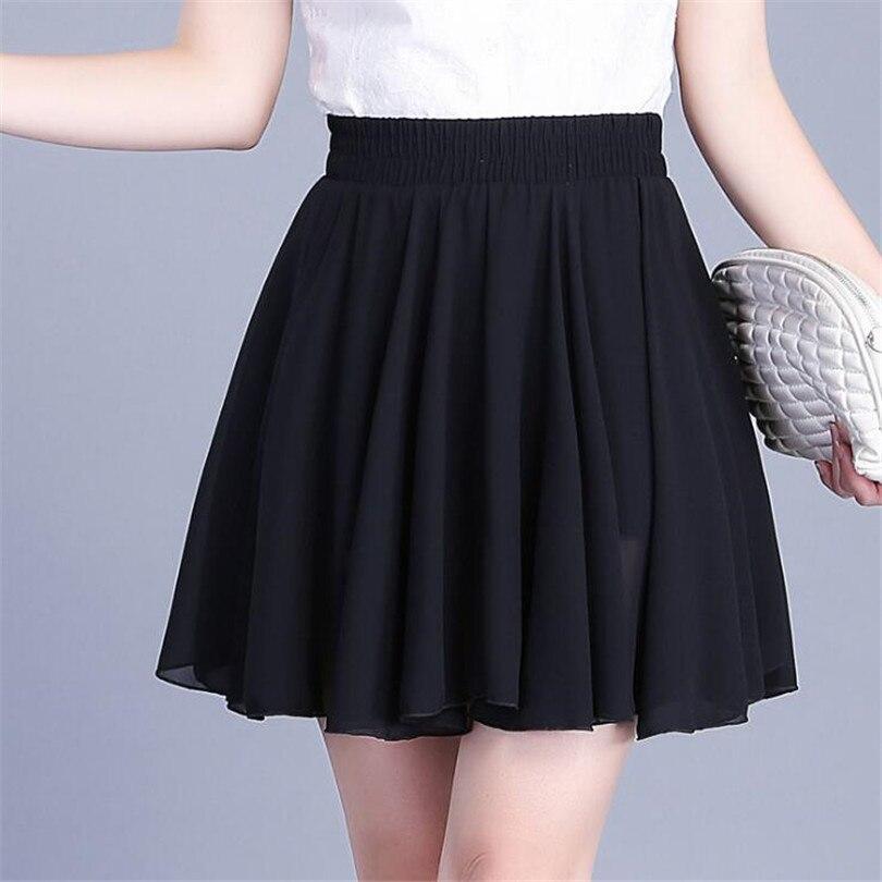 VISNXGI 2020 Fashion Women Autumn Summer Casual Skirt Side Zipper Midi Long Chiffon Skirt Ladies High Waist Pleated Skirts Women
