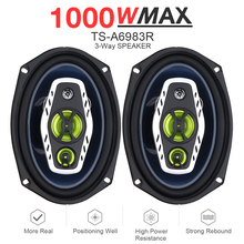 цены 6x9 Inch Car Speaker 1000W 3 Way Car Coaxial Auto Audio Music Stereo Full Range Frequency Hifi Speakers Non-destructive For Car