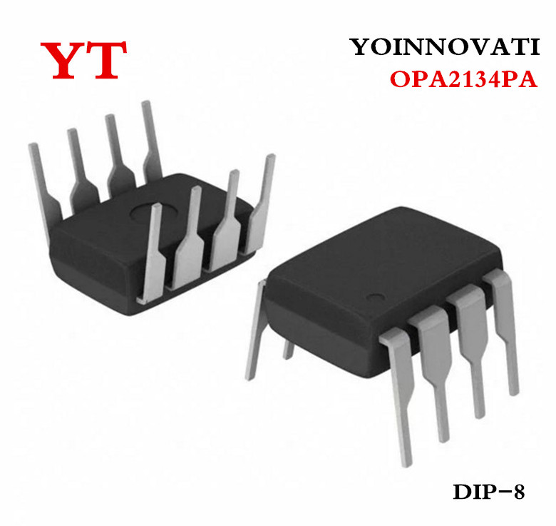 10pcs OPA2134PA <font><b>OPA2134</b></font> 2134PA 2134 IC OPAMP AUDIO STER AB 8DIP Best quality image