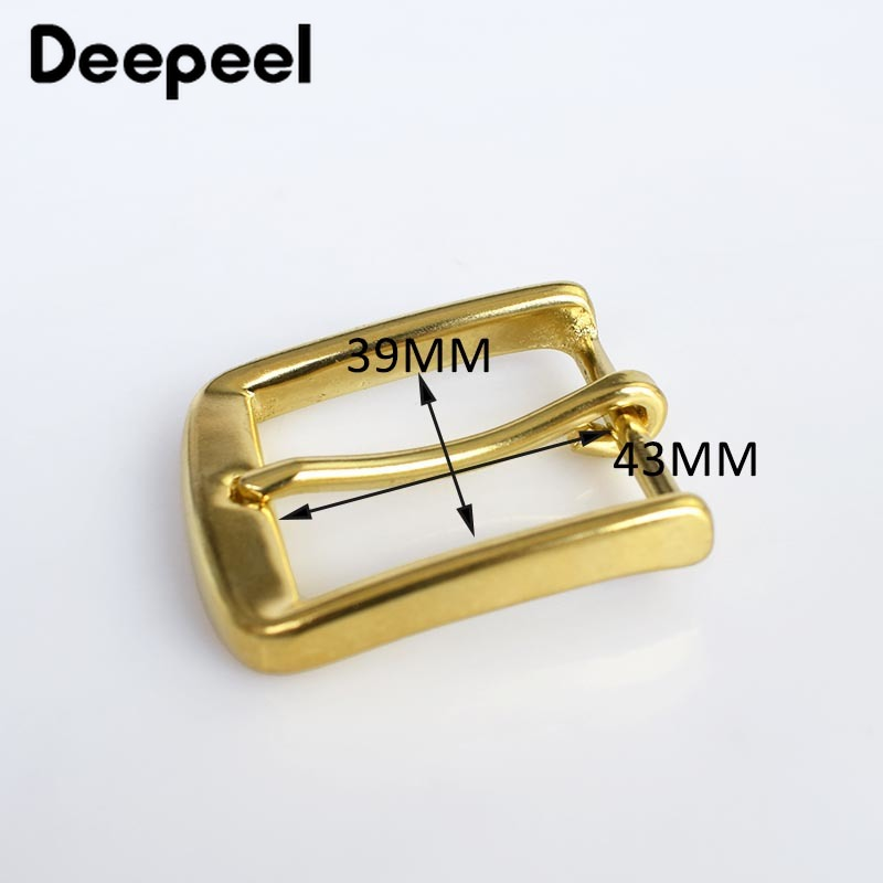 Solid Brass Metal Belt Buckles Leathercraft Hardware Metal Pin Buckle For Belt 38mm Width DIY Sewing Accessories