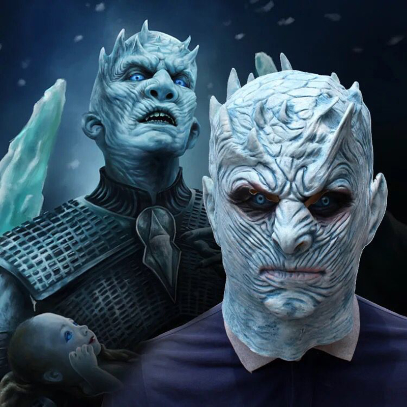 The Movie Game Thrones Night King Cosplay Mask Walker Face NIGHT RE Zombie Latex Party Mask Adult Throne Costumes