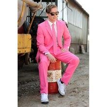 Por encargo caliente de la nueva Rosa slim fit hombres Trajes novio  Esmoquin formal padrinos de fcdc8723490b
