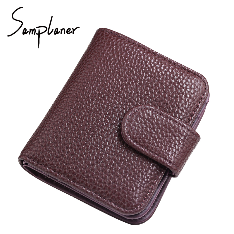 New Short Women Purse Wallet Zipper Hasp Leather Wallets 2017 Small Litchi Lady Wallets Cards Coin Holder Female Purses Carteras vintage women short leather wallets stylish wallet coin card pocket holder wallet female purses money clip ladies purse 7n01 18
