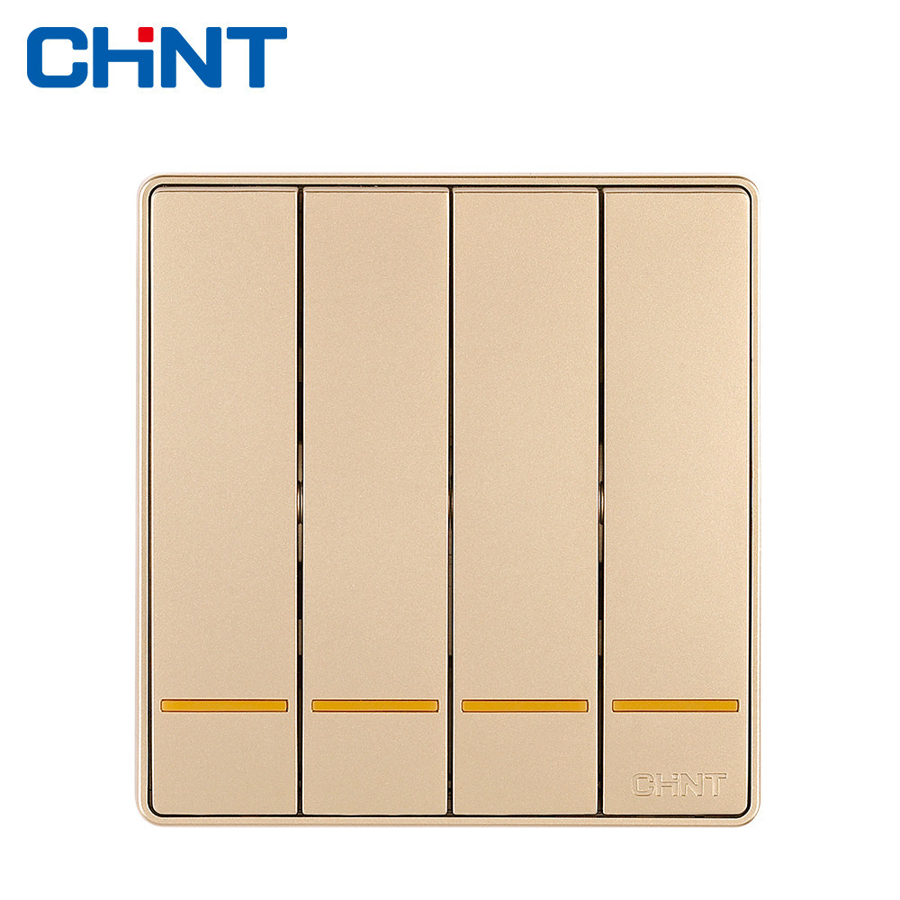 CHINT Switch Wall Plate NEW2D Four Gang One Way 16A Steel Frame Electric