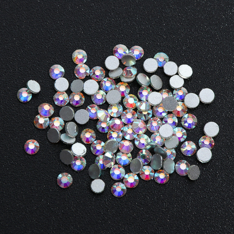 12 box Boxed High quality Multi size Mixed Drill AB Flat bottom Gold and Silver Flame mixed Diamond Jewelry Tool in Rhinestones Decorations from Beauty Health