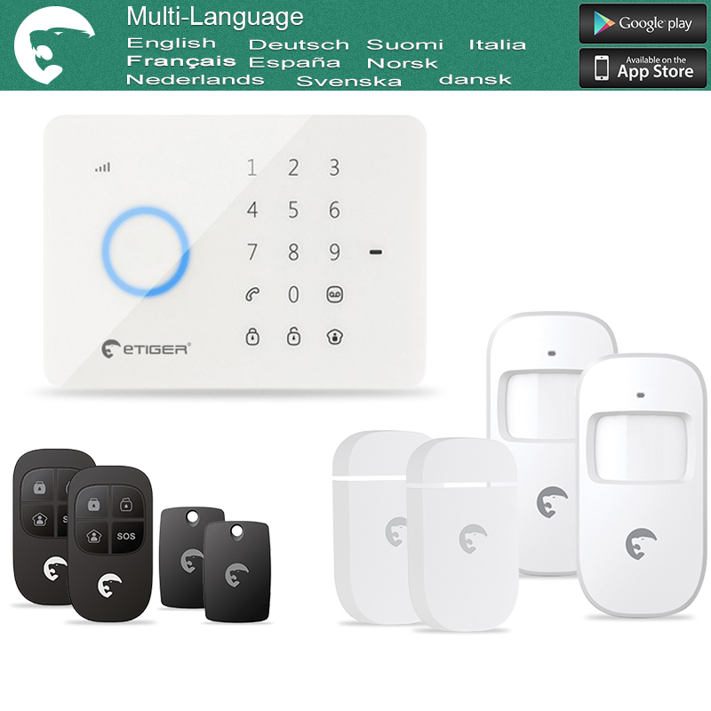 Etiger IOS Android Intruder Burglar eTiger alarm S3B GSM/SMS alarm system For Home/Office/Factory цена и фото