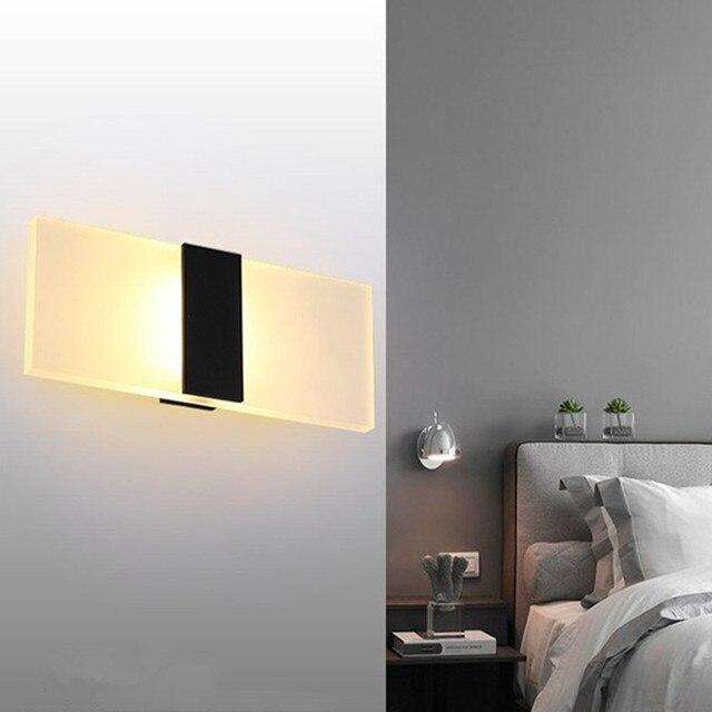 Moderna Applique Da Parete A LED Acryl Camera Da Letto Bagno ...