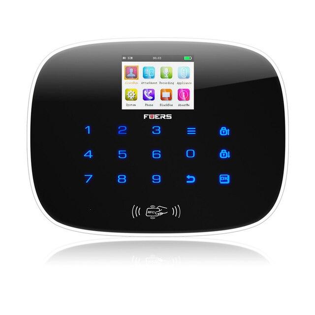 Metal Remote Control GSM SMS Burglar Alarm System Security System  Alarm Android iOS APP Control Door Sensor Alarm Systems