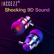 цена на !ACCEZZ In-Ear Earphone 3.5mm Audio Jack Earphones For Xiaomi Huawei Samsung Headsets With Earbuds Stereo Sport Noise Isolating