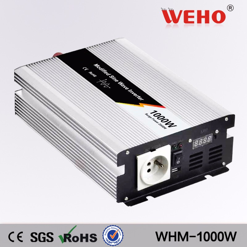(WHM1000-122) 1000W off Grid Tie Modified sine wave Solar Inverter 12VDC to AC220V/230V 50HZ or 60Hz Home Solar Systems whm1000 242 smart 1000w 24v dc to ac 220v 230v 50hz modified sine wave solar power inverter