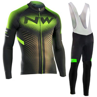 NW Brand Anti UV Cycling Jersey Set Breathable Long Sleeve Bike Cycling Clothing Mountain Bicycle Wear Cycling Clothes Set