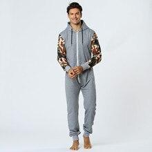 Centuryestar Tmall Quality Mens Pijama Hombre Autumn Winter Warm Long Pajama Onesie Hooded Pyjama Adult With Zipper One Piece