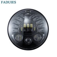 7 LED Headlight H4 High Low Beam DRL With Adaptive Led headLamp For 7 inch Motorcycles Headlamp