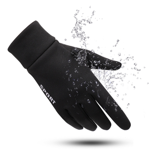 Image 4 - SHOUHOU Men Autumn Winter Warm Lining Gloves Touch Screen Proof Water Gloves Riding Cycling Traveling Gloves