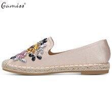 Gamiss Women Spring Flats Trendy Round Toe Rhinestone Espadrilles Flat Heel  Slip-On Loafers Women fe87563a7a0e