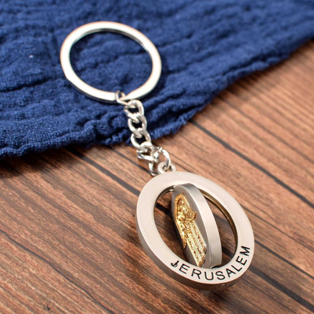 LLavero de la mano de Hamasa de la cadena de la llave de estilo de Israel para hombres mujeres de aleación de Zinc llavero para llave