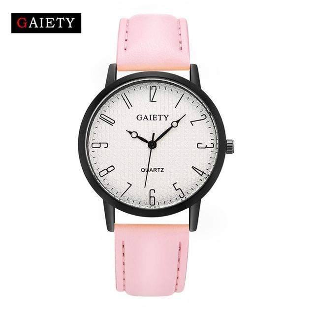 2018 Selling fashion watches Women Fashion Leather Band Analog Quartz Round Wris