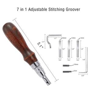 Image 4 - 59 Pcs/Set Leather Craft Hand Tools Kit for Hand Sewing Stitching Stamping Saddle Making JDH99