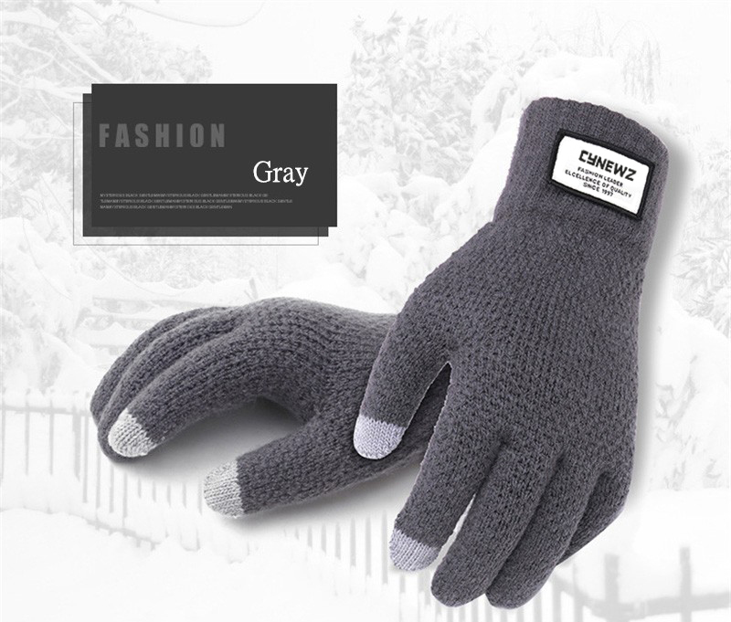 HTB1 1toaifrK1RjSspbq6A4pFXaD - Winter Autumn Men Knitted Gloves Touch Screen High Quality Male Thicken Warm Wool Cashmere Solid Gloves Men Mitten Business